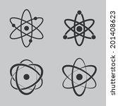 atom icons set | Shutterstock .eps vector #201408623