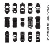car icons top view  | Shutterstock .eps vector #201409697