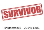 Survivor grunge rubber stamp on white, vector illustration