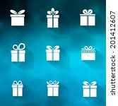 gift box icon set different... | Shutterstock .eps vector #201412607