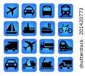 transportation icon | Shutterstock . vector #201420773