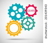 Color Toothed Gears  Cogs  Is...