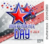 independence day usa abstract | Shutterstock .eps vector #201442883