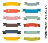 retro ribbons set illustration... | Shutterstock . vector #201458177