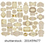 mega set of retro vintage... | Shutterstock .eps vector #201459677