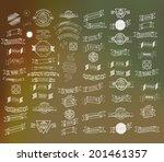 mega set of thin line retro... | Shutterstock .eps vector #201461357