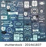 mega set of ornate frames and... | Shutterstock .eps vector #201461837