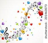 Vector Illustration Of Music...