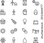 energy   power icons | Shutterstock .eps vector #201464477