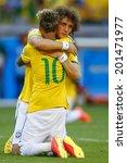 Постер, плакат: David Luiz and Neymar