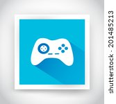 icon of joystick for web and...