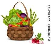 fresh vegetable organic food... | Shutterstock .eps vector #201503483