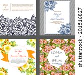 wedding invitation cards with... | Shutterstock . vector #201516827
