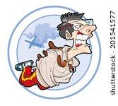 parachutist crazy   Shutterstock .eps vector #201541577