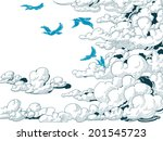 sky background  clouds and blue ... | Shutterstock .eps vector #201545723