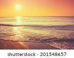 Soft Sea Ocean Waves Wash Over...
