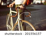 young hipster style man posing... | Shutterstock . vector #201556157