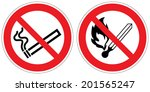 no smoking  no open flame  fire ... | Shutterstock .eps vector #201565247