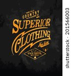 vintage typography for apparel 3 | Shutterstock .eps vector #201566003
