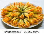 Zucchini Flowers Stuffed With...