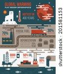 global warming infographics | Shutterstock .eps vector #201581153