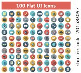 set of modern icons in flat...