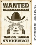 Vintage Western Wanted Poster....