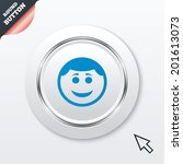smile face sign icon. happy...