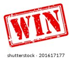 win red stamp text on white | Shutterstock .eps vector #201617177