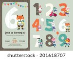 Постер, плакат: Birthday Anniversary Numbers with