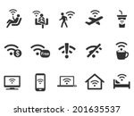 vector wi fi  icons set  wi fi... | Shutterstock .eps vector #201635537