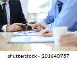 business adviser analyzing... | Shutterstock . vector #201640757