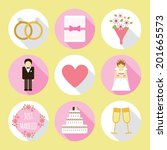 circle wedding flat icon