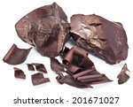 chocolate blocks isolated on a... | Shutterstock . vector #201671027