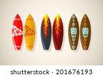 vector illustration of surf...   Shutterstock .eps vector #201676193