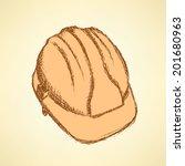 sketch helmet  vector vintage...