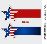 american flag  flags concept... | Shutterstock .eps vector #201686723