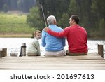 father son and grandfather... | Shutterstock . vector #201697613