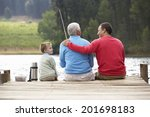 father son and grandfather... | Shutterstock . vector #201698183