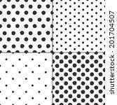polka dot black and white... | Shutterstock .eps vector #201704507