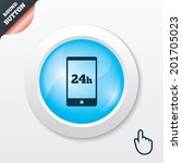 24 hours call center icon....