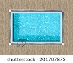 swimming pool with wooden deck... | Shutterstock . vector #201707873