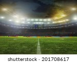 stadium with fans the night... | Shutterstock . vector #201708617
