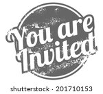 you are invited rubber stamp | Shutterstock .eps vector #201710153