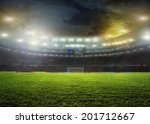 stadium with fans the night... | Shutterstock . vector #201712667