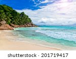tropical summer beach | Shutterstock . vector #201719417