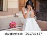 Hopeless Bride Crying Outside ...