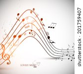abstract music background.... | Shutterstock .eps vector #201759407