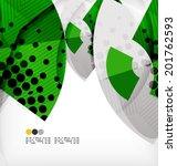 semicircle geometric vector...   Shutterstock .eps vector #201762593