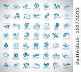 water and drop icons set  ...   Shutterstock .eps vector #201770213